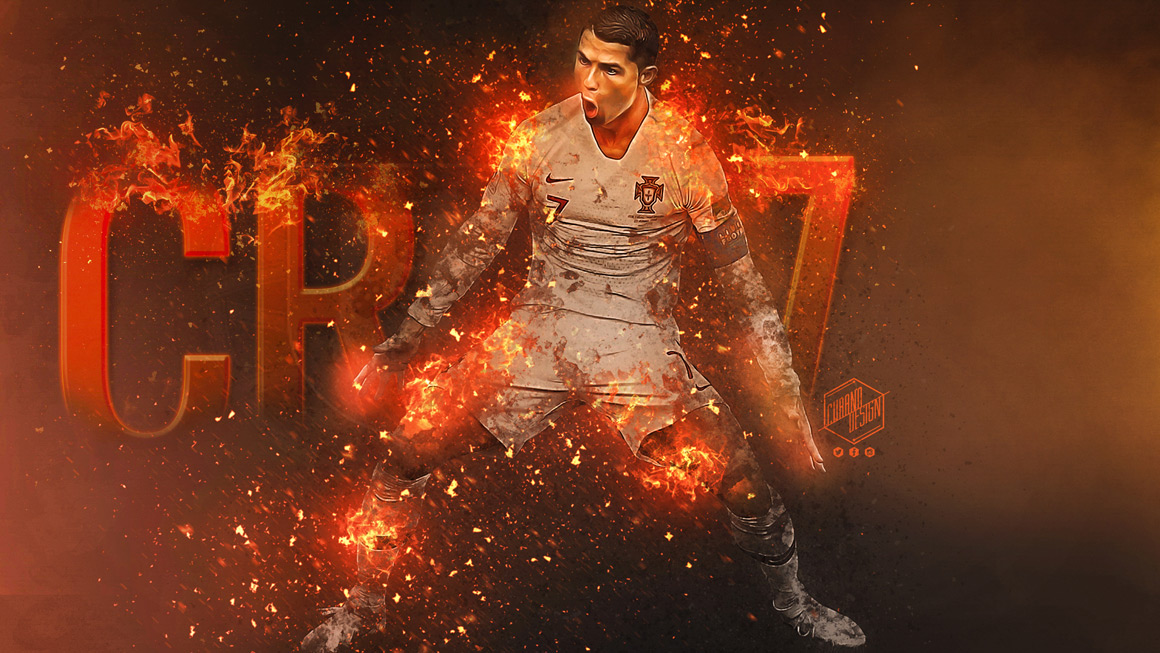 Wallpaper Cristiano Ronaldo Portugal Cubanodesign